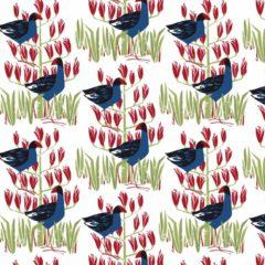 Pukeko Patch New Zealand Fabric