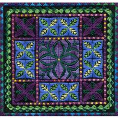 Hawaiian Holiday Purple Canvas Work