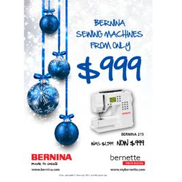 Bernina Christmas Sale